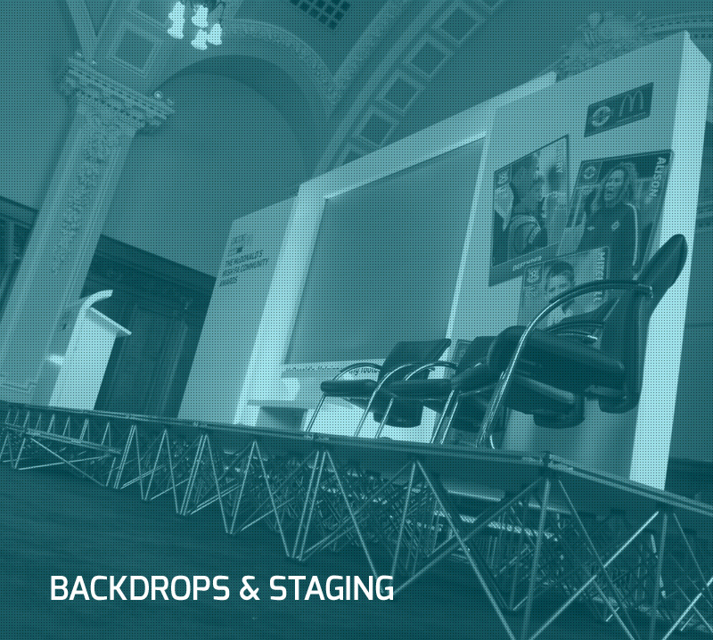 BACKDROPS & STAGING b