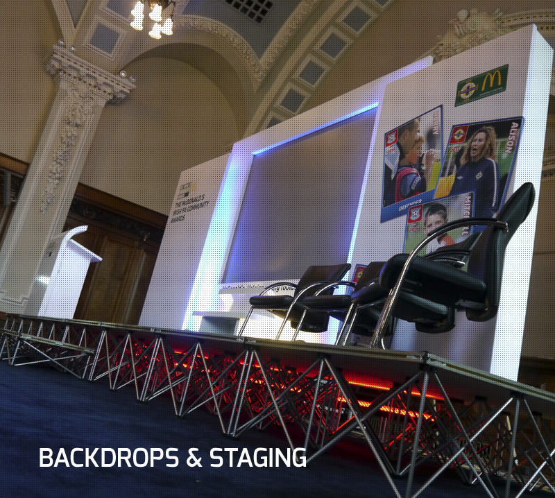 BACKDROPS & STAGING